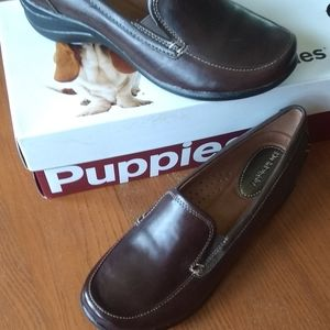Hush Puppies Dark Brown Leather EPIC Loafer NWT